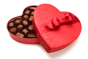 valentines chocolate heart box