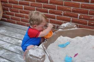 Sandbox from Grandma & Grandpa!